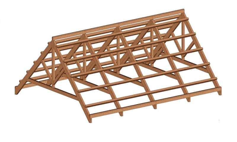 structura lemn acoperis