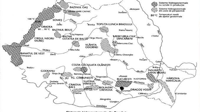 harta hidrogeotermala a romaniei