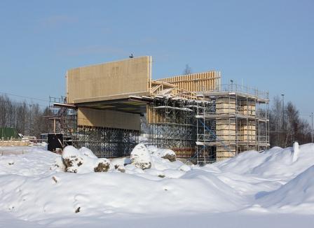 constructia casei pe timp de iarna