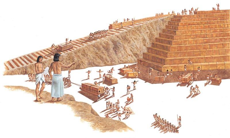 constructia piramidelor