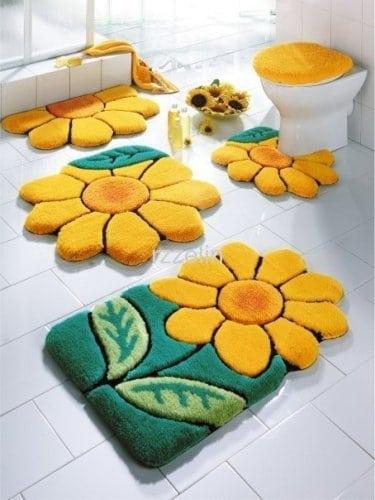 covorase de baie floarea soarelui