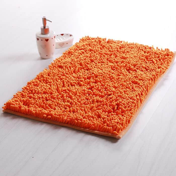 covorase de baie din microfibra portocalii