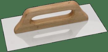 drisca din otel inox cu maner de lemn