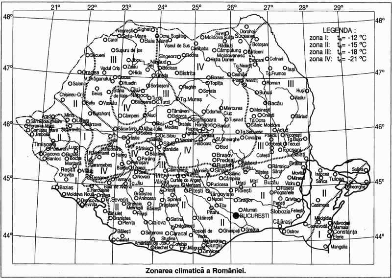 harta climatica romania