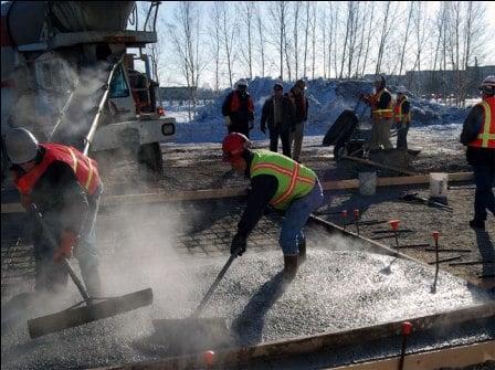 turnare beton iarna