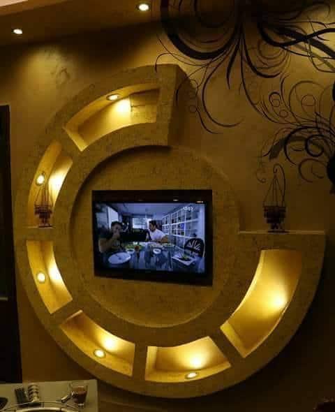 2. amenajare sufragerie cu gipscarton televizor