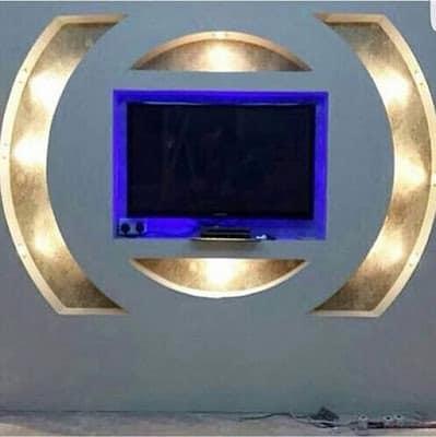 25. amenajare sufragerie cu gipscarton televizor