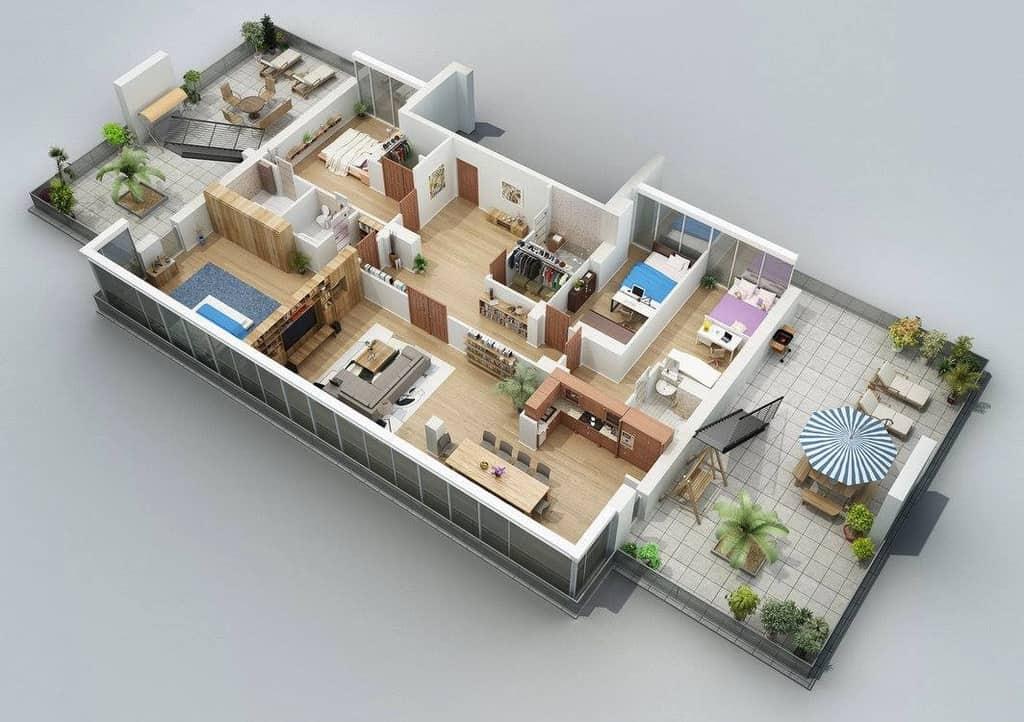 randari 3d proiect constructie casa