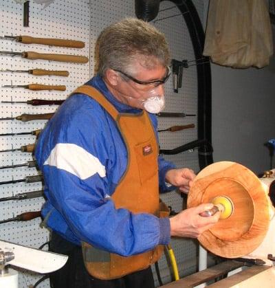 masca protectie strung lemn