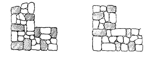 asezarea pietrelor in zidaria de piatra bruta