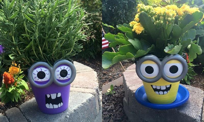 cum sa decoram ghivecele de flori