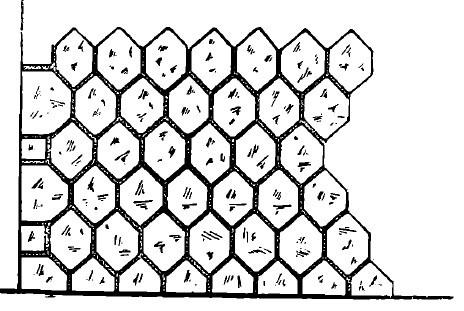 Zidarie de piatra cioplita format poligonal