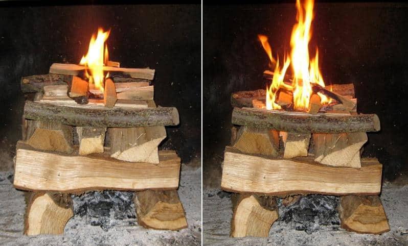 cum se aprinde focul de sus ardere inversa