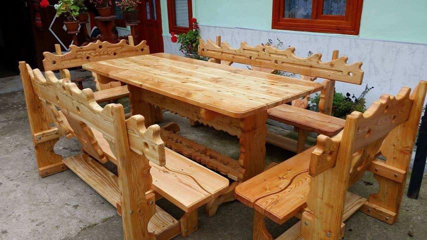 mobilier de gradina din lemn masiv 1