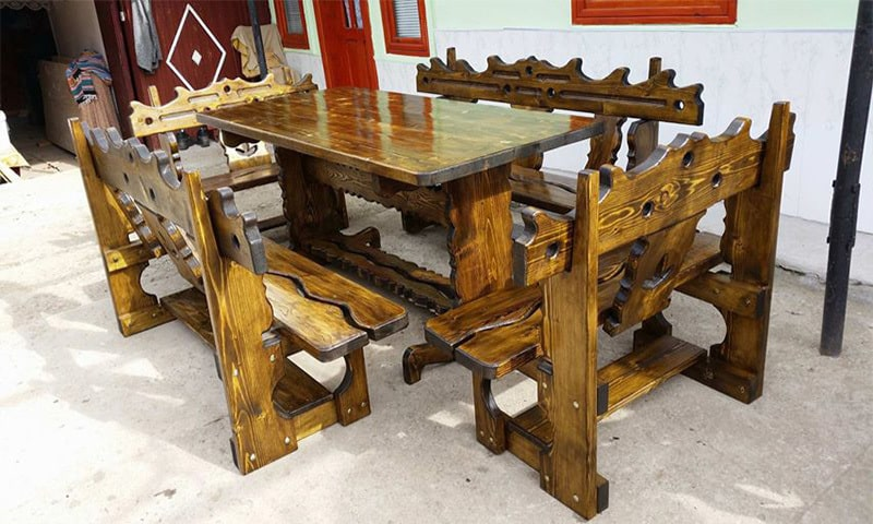 mobilier de gradina din lemn masiv 4