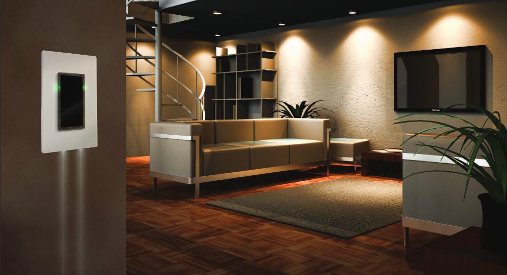 intrerupator touch cu led proiectie lumina podea