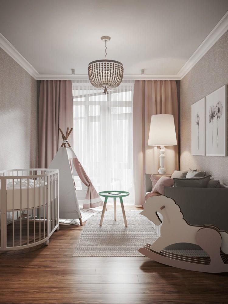 camera copilului cu patut si cort
