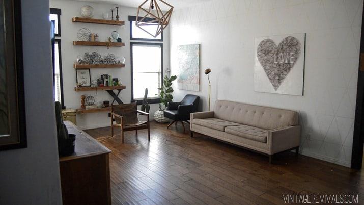 amenajare sufragerie cu caramida veche