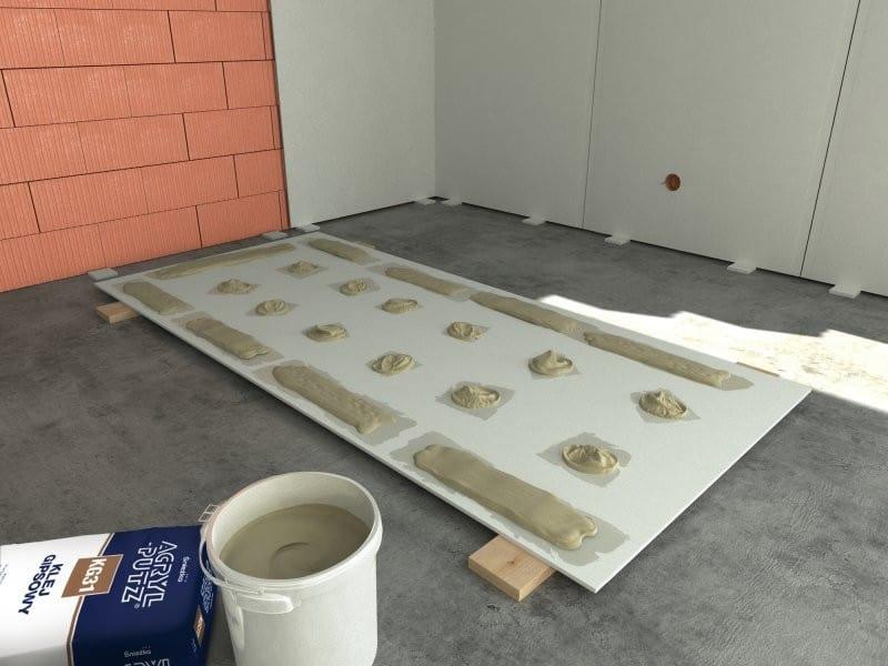 montare rigips pe pereti prin lipire