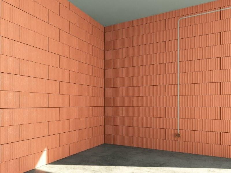 perete zidit din caramida cu goluri verticale