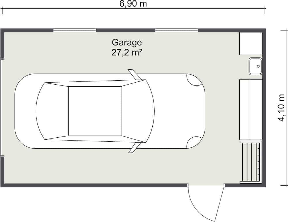 plan garaj 1