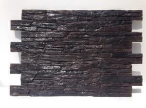 panou decorativ piatra nisipoasa negru