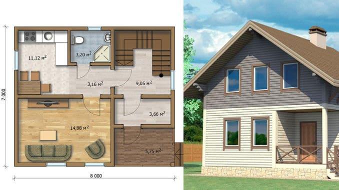 Proiect Casa Din Lemn.Proiect Casa Csd 010