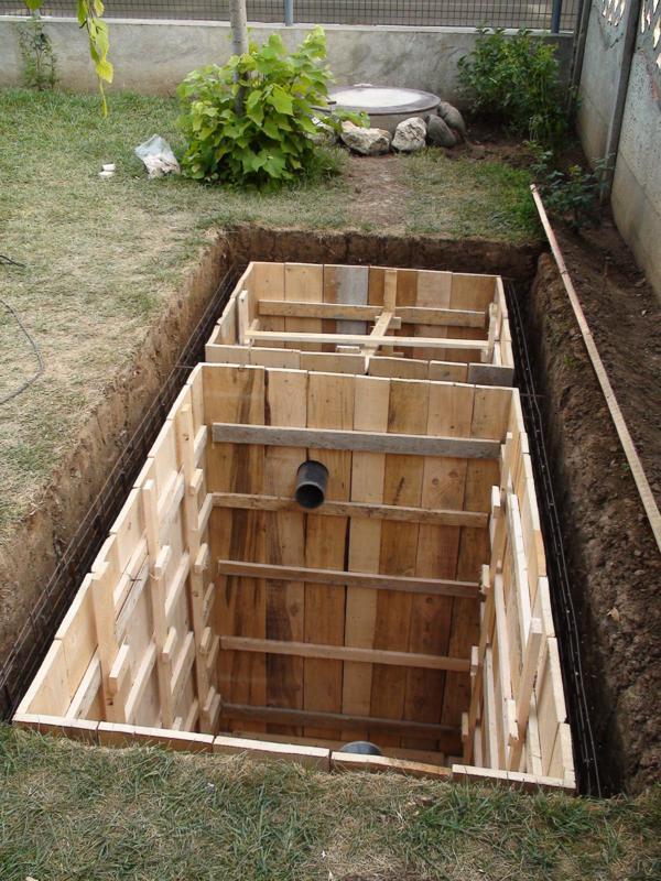 cofraj fosa septica din beton
