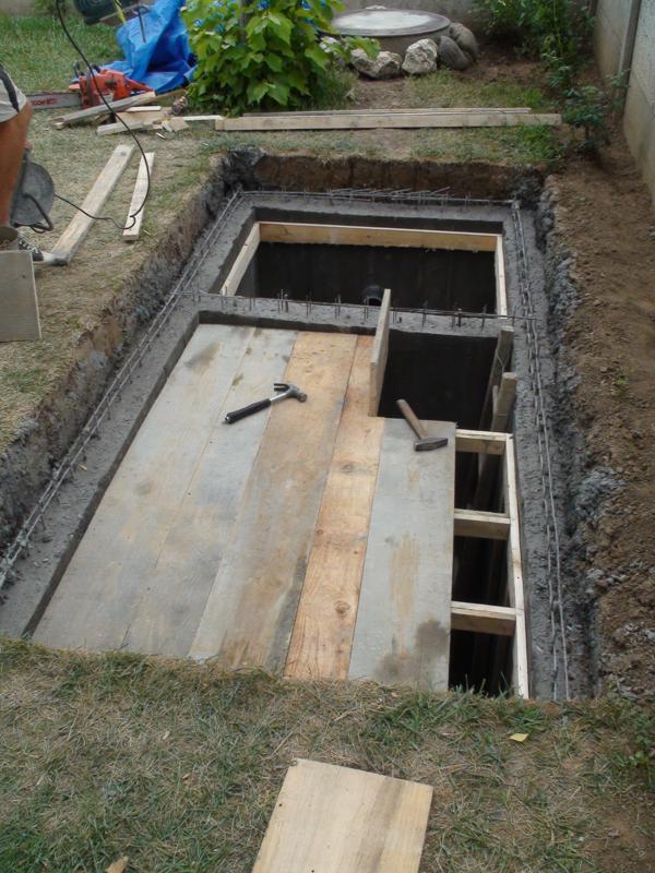 cofrare placa fosa septica din beton