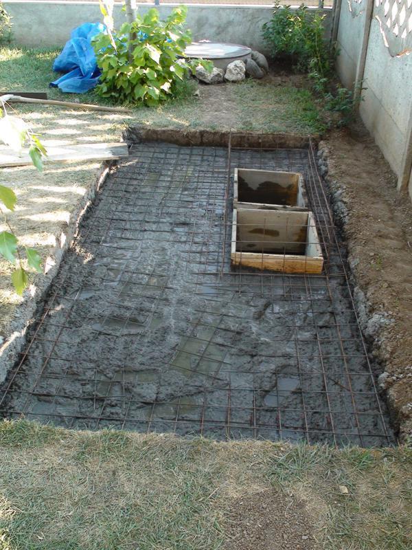 turnare placa fosa septica betonata