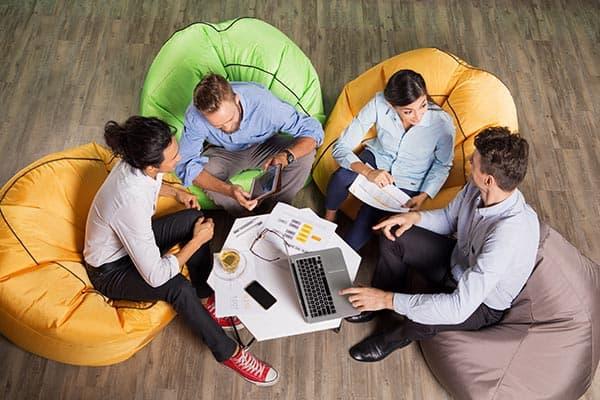beanbag pentru birou