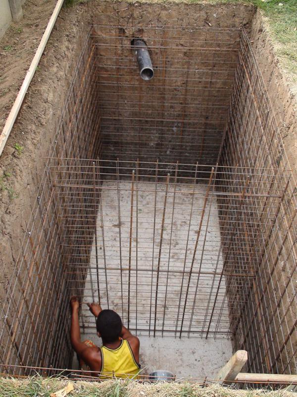 armare fosa septica din beton
