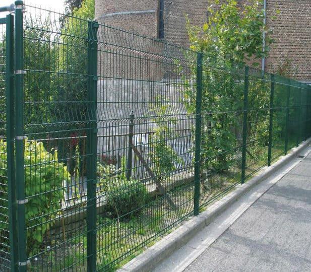 gard din plasa sudata verde