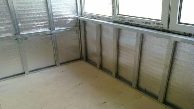 izolare balcon cu vata minerala caserata cu aluminiu