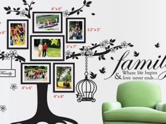 sticker decorativ de perete copacul familiei