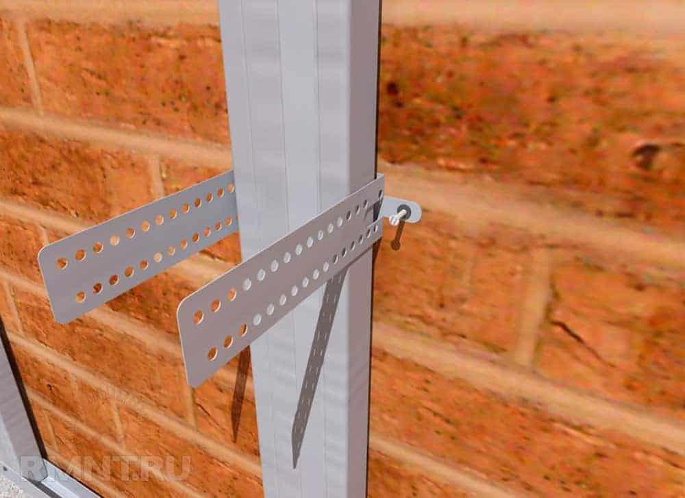 prindere brida cu diblu in perete caramida