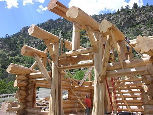 structura casa din busteni