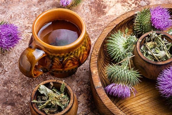 ceai de brusture