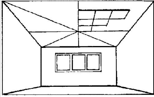 trasare tavan casetat
