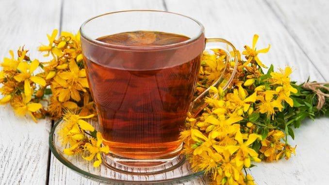 ceai de sunatoare sau pojarnita