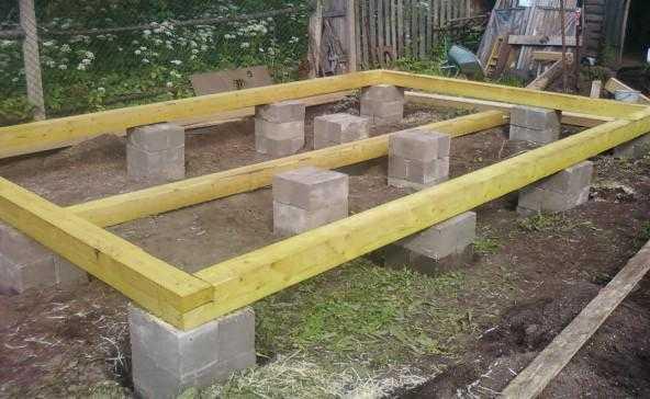fundatie din boltari beton pentru case din lemn