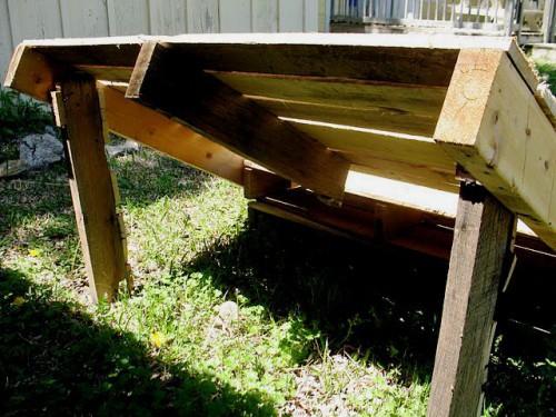 mobilier din lemn de gradina sezlong din paleti de lemn