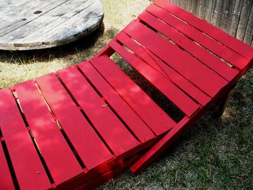 mobilier din lemn de gradina sezlong din paleti de lemn 6