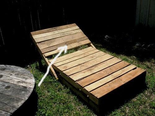 sezlong paleti din lemn