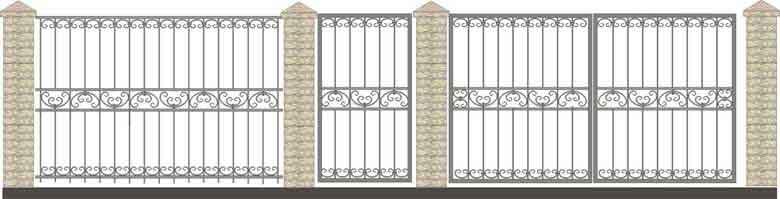 schita gard si porti din fier forjat 11