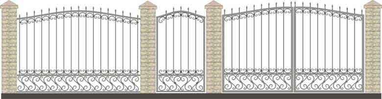 schita gard si porti din fier forjat 14