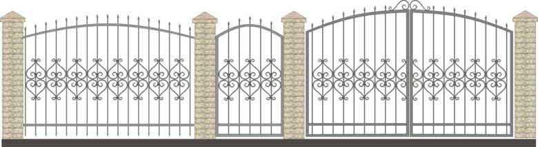 schita gard si porti din fier forjat 3
