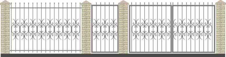 schita gard si porti din fier forjat 5
