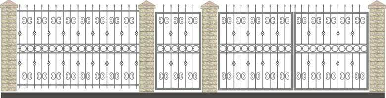 schita gard si porti din fier forjat 2