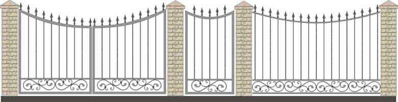 schita gard si porti din fier forjat 8